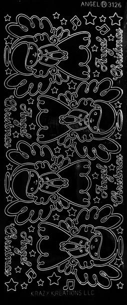 Angel Outline Sticker