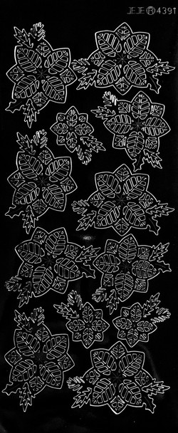Small Poinsettias Outline Sticker