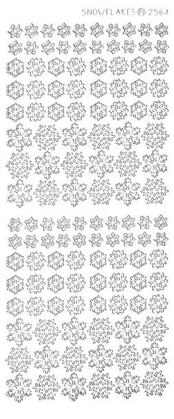 Small White Snowflakes Sticker