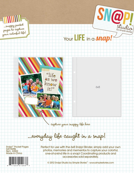 Simple Stories Snap Studio 6x8 Page Protectors, 10 Pack