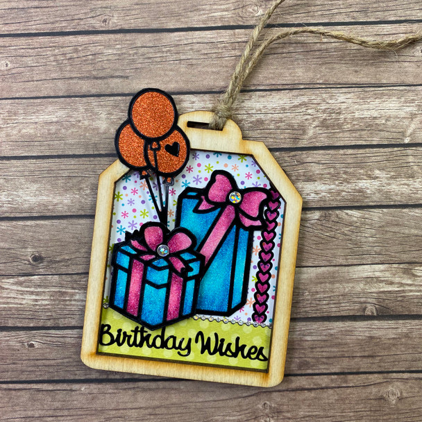 Birthday Wishes Wood Tag Kit