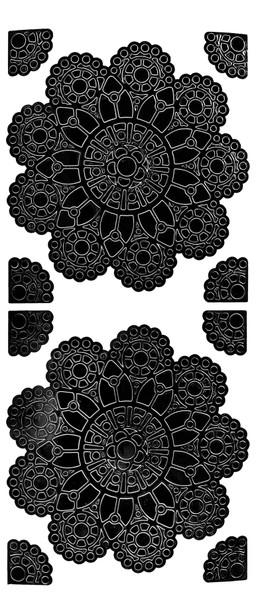 Mandala 1 Outline Sticker