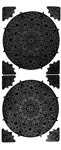Mandala 4 Outline Sticker