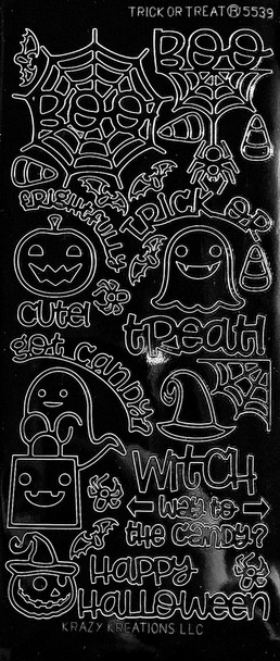 Trick Or Treat Outline Sticker