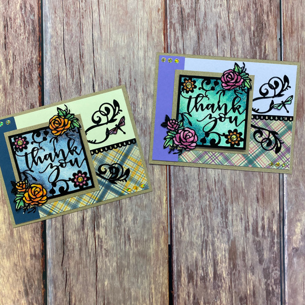 Online Class + Add-on Kit: Thank You Frame Cards (1/9)