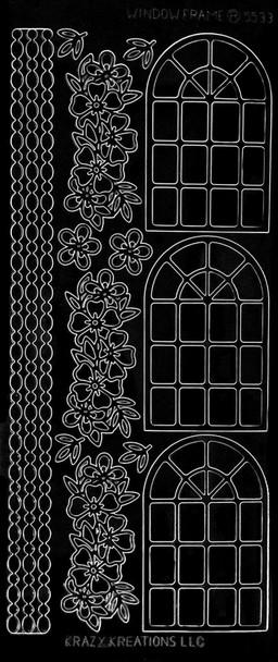 Window Frame Outline Sticker