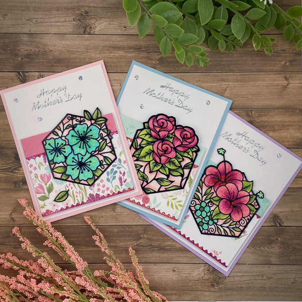 Online Class: Mother's Day Hexagon Flower Cards (4/24)