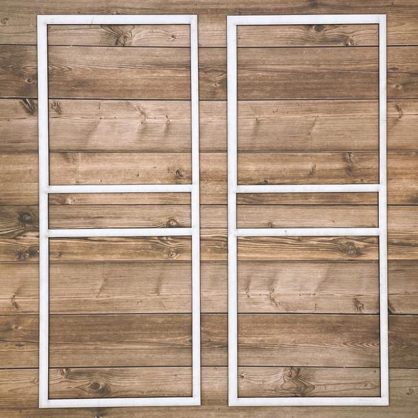 White Photo Frames, Style A, 2pc