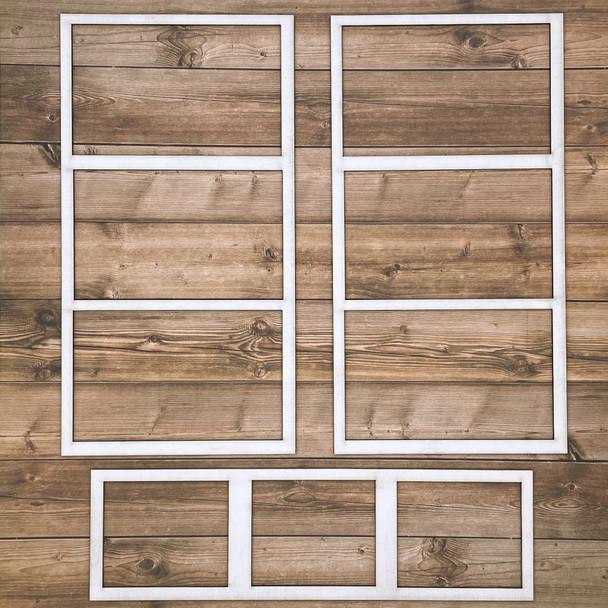 White Photo Frames, Style C, 3pc