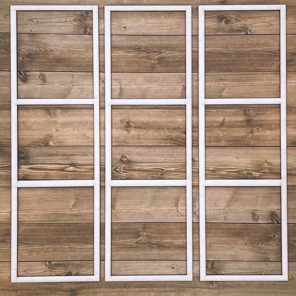 White Photo Frames, Style D, 3pc