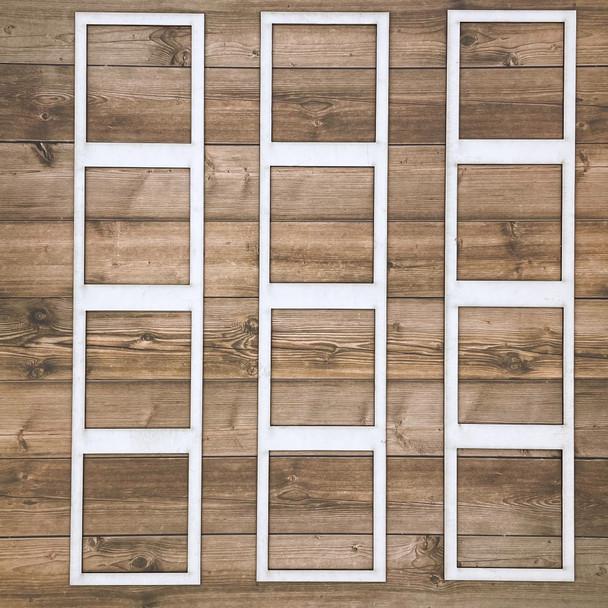 White Photo Frames, Style E, 3pc
