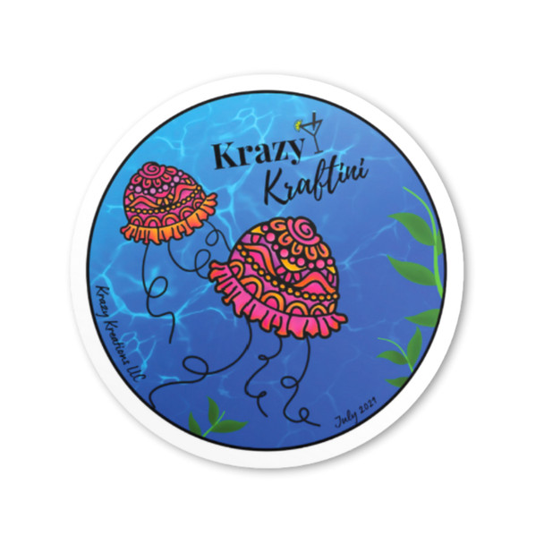 Krazy Kraftini July 2021 Collectible Button