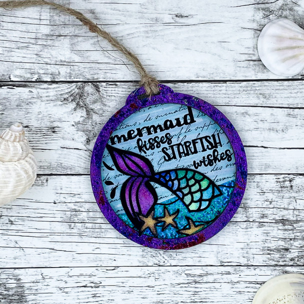 Mermaid Tail Gift Tag Craft-along Kit (One of a Kind 8/14)