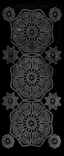Mandala Flowers Outline Sticker