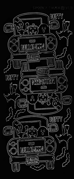 Spooky Truck Outline Sticker