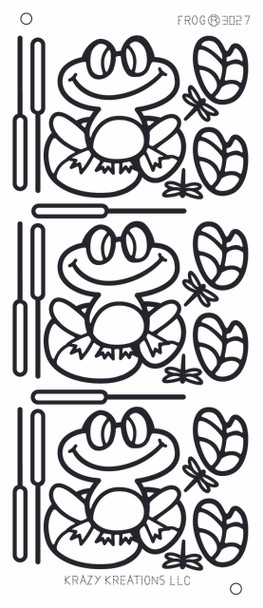 Frog Outline Sticker