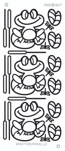Frog Outline Sticker