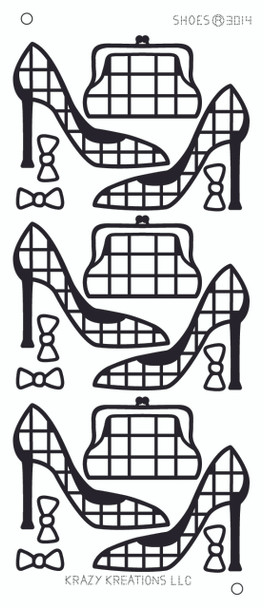 Shoes Outline Sticker