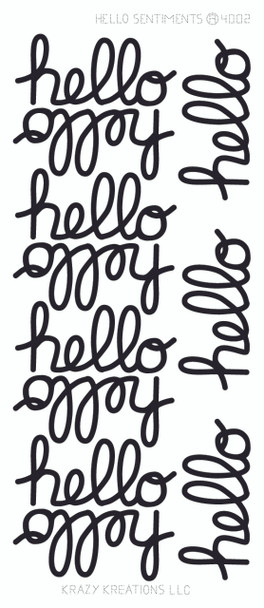 Hello Sentiment Sticker