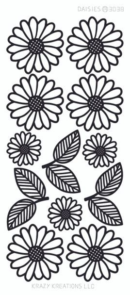Daisies Outline Sticker