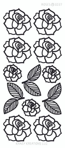 Roses Outline Sticker