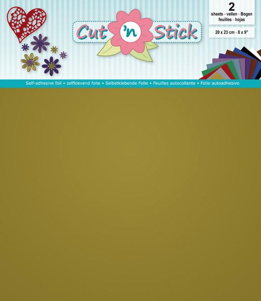 Cut 'n Stick Adhesive Foil, Mirror Gold