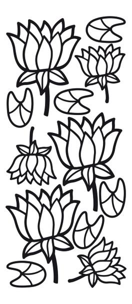 Lotus Outline Sticker