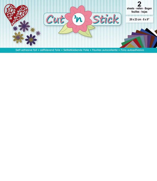 Cut 'n Stick Self-Adhesive Foil - White