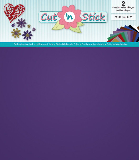 Cut 'n Stick Adhesive Foil - Mirror Purple