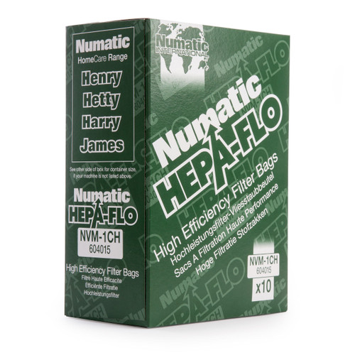 Numatic NVM-1CH 604015 HEPA-FLO High Efficiency Filter Bags (Pack of 10)