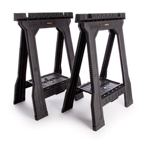 Stanley STST1-70355 Twin-Pack Folding Sawhorse Junior