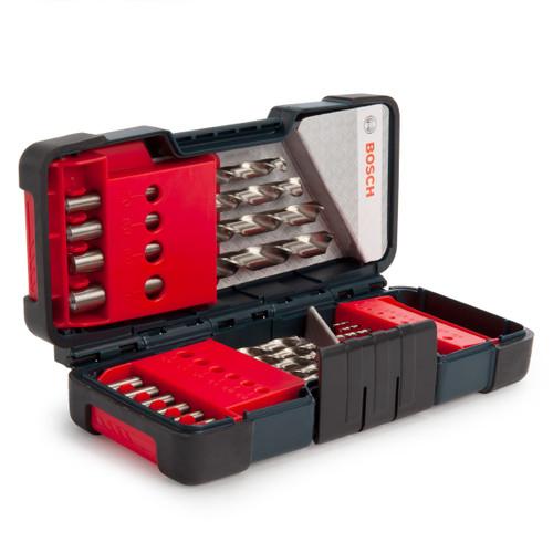 Bosch 2607019578 HSS-G Metal Drill Bit Set in Tough Box (18 Piece)