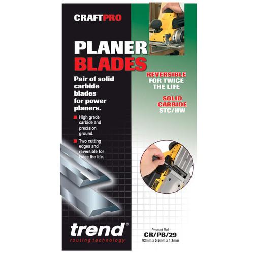 Trend CR/PB29 CRAFTPRO 82mm Reversible Planer Blades