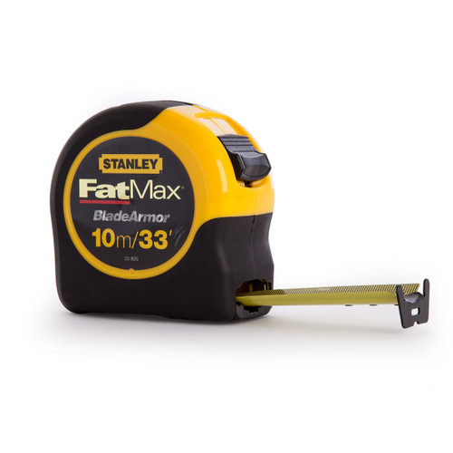 Stanley 0-33-805 FatMax Metric Tape Measure with Blade Armor 10m
