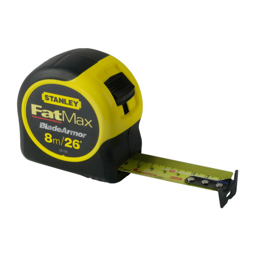 Stanley 0-33-726 FatMax Metric/Imperial Tape Measure with Blade Armor 8m