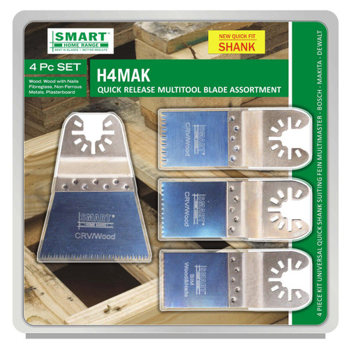 Smart H4MAK Multi Tool Blade Set with Quick Release Fitment (4 Piece)