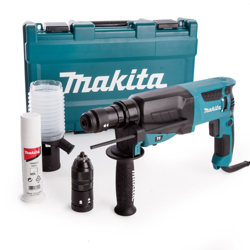 Makita HR2630T SDS Plus Rotary Hammer Drill with Keyless Quick Chuck (240V)