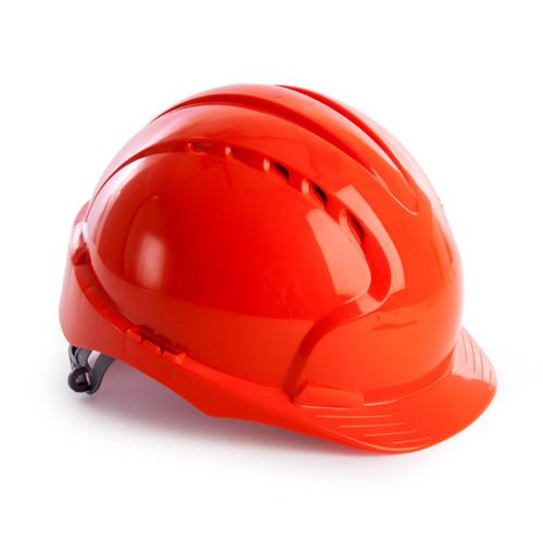 JSP AJF160-000-800 EVO3 Safety Helmet with Slip Ratchet - Vented - Orange