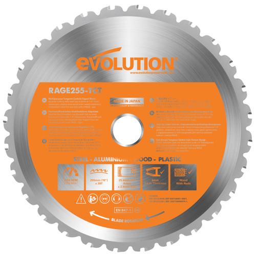 Evolution B255 TCT Sawblade 255mm x 25.4mm x 28T