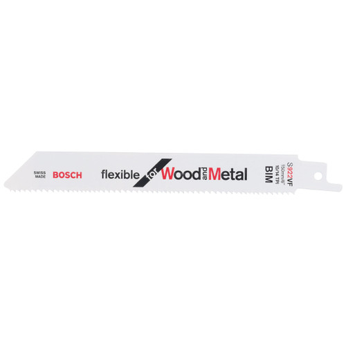 Bosch S922VF Reciprocating Saw Blades for Wood & Metal 150mm (Pack Of 5)