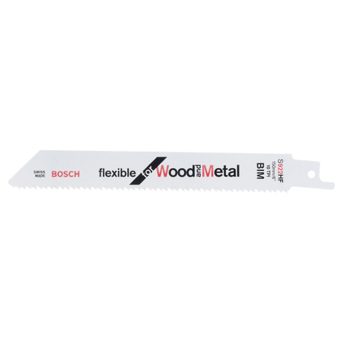 Bosch S922HF Flexible Reciprocating Saw Blade for Metal 150mm (Pack Of 5)