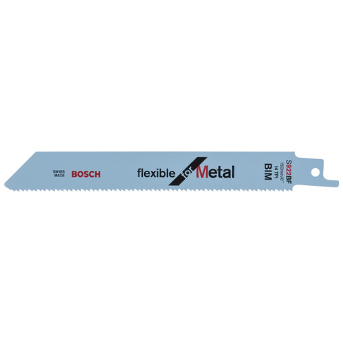 Bosch S922BF (2608656014) Reciprocating Saw Blades for Metal 150mm (Pack Of 5)