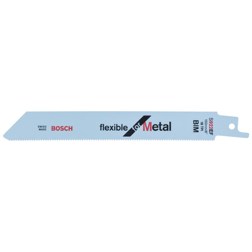 Bosch S922EF Flexible Metal Cutting 1.5 - 4mm Reciprocating Saw Blade 150mm (Pack Of 5)