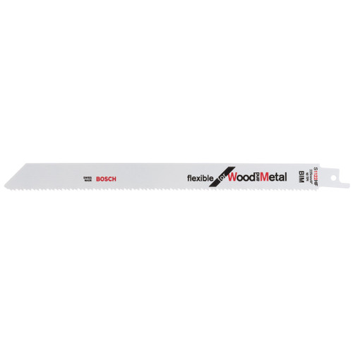 Bosch S1122 HF (2608656021) Flexible Reciprocating Saw Blades for Wood & Metal 225mm (Pack Of 5)