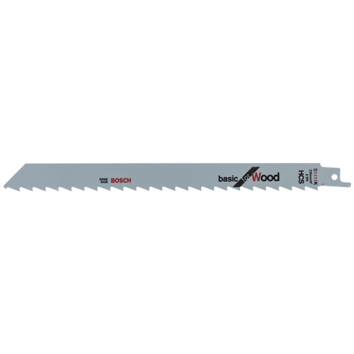 Bosch S1111K (2608650678) Reciprocating Saw Blades for Wood 225mm (Pack Of 5)
