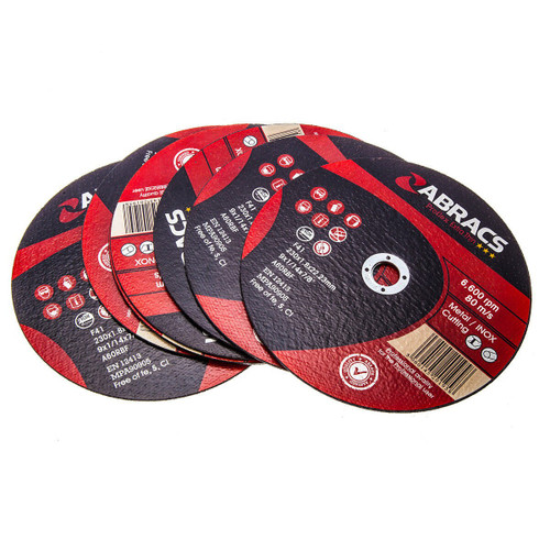 Abracs Proflex PFET23018FI Extra Thin INOX Cutting Disc 230mm x 1.8mm x 22.23mm (Pack Of 10)