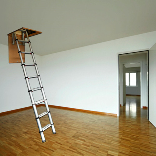 Youngman 301001 Telescopic Loft Ladder Aluminium 2.9 Metres / 9.51 Feet