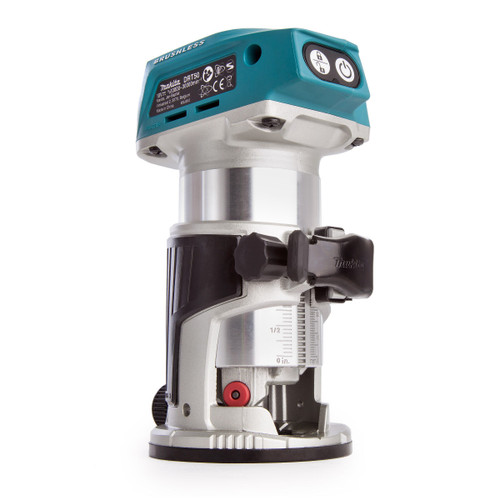 """Makita DRT50ZJX3 18V LXT 1/4"""" Router/Trimmer with 4 Bases & 2 Guides (Body Only)"""