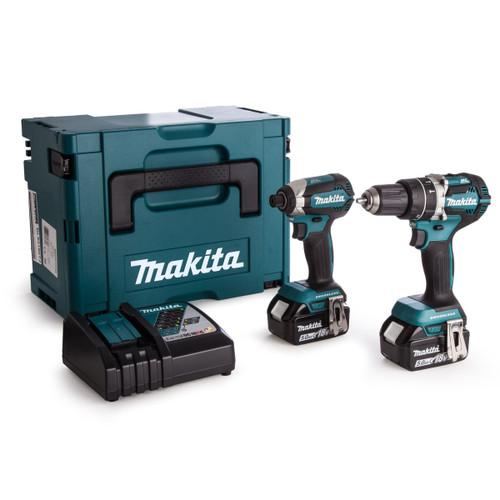 Makita DLX2180TJ 18V Combi Drill & Impact Driver Twin Pack (2 x 5.0Ah Batteries)