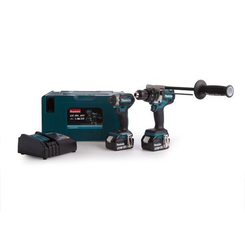 Makita DLX2176TJ 18V Brushless Twin Pack - DHP481 Combi Drill + DTD154 Impact Driver (2 x 5.0Ah Batteries)